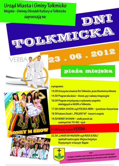 Plakat Tolkmicko