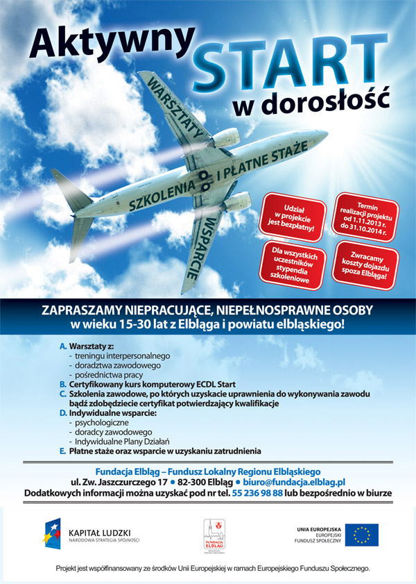 Fundacja Elbląg- ulotka