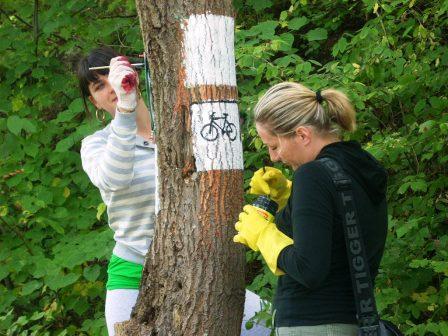 znakowanie szlaku rowerowego